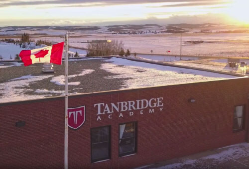 Tanbridge exterior - canadian flag above